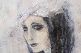 Frau mit Hut 60x90